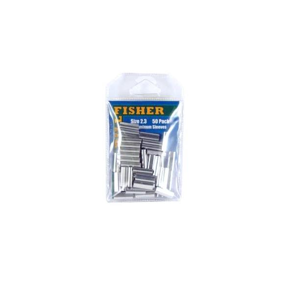 Billfisher 2.3al-50 Aluminum Single Sleeve 400lb 50pk