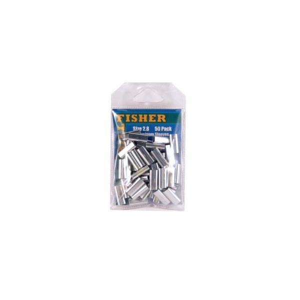 Billfisher 2.8al-50 Aluminum Single Sleeve 500lb 50pk