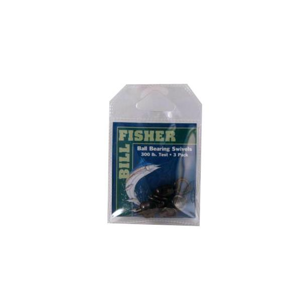 Billfisher Bbs8-3pk Ball Brg Swivel Blk 2-ring 300lb 3pk