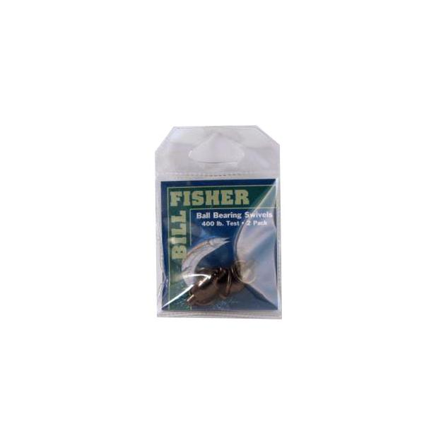 Billfisher Bbs9-2pk Ball Brg Swivel Blk 2-ring 400lb 2pk