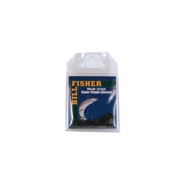Billfisher Mss.8b-25 Super Single Sleeve Blk 40-50lb 25pk