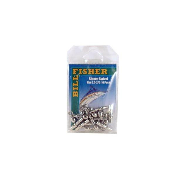 Billfisher N2.3-2/0-10 Sleeve Swivel 2.3mm Id 2/0 Swivel Nic 10p