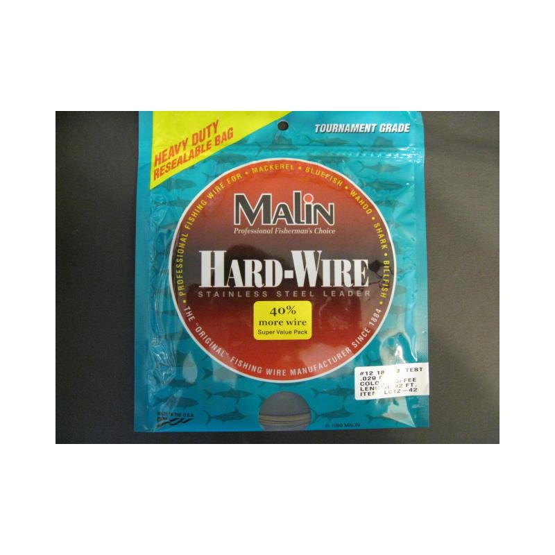 Malin Stainless Steel Leader #12 180 Lb Test Lc12-42 Ss Wire Cof