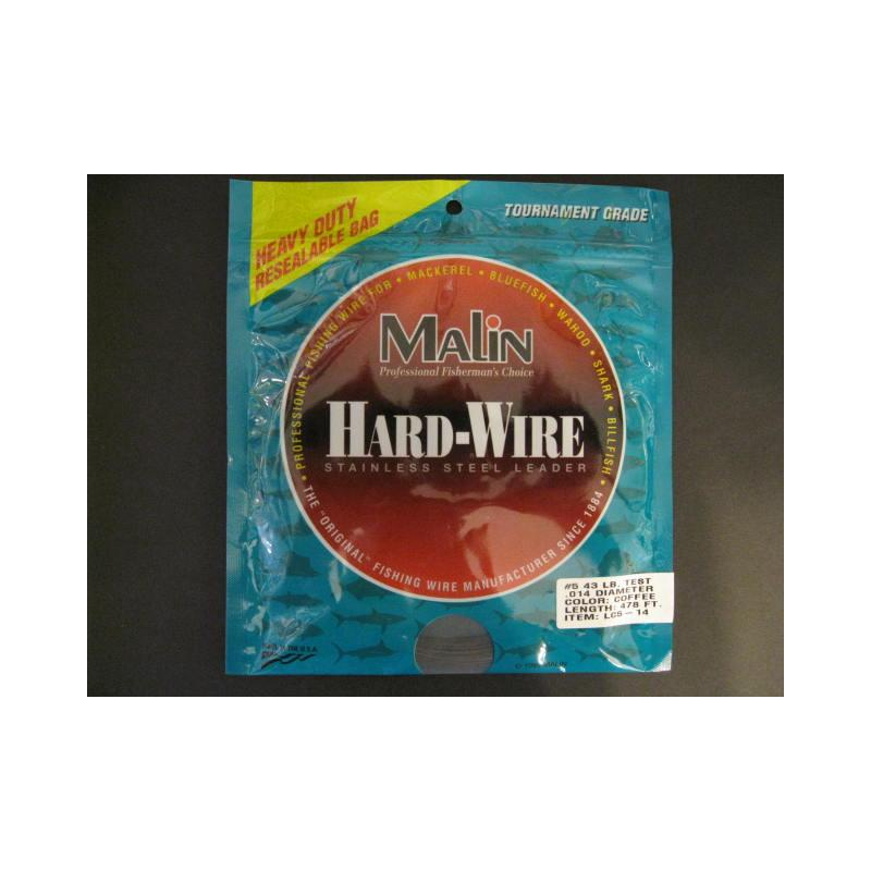 Malin Stainless Steel Leader #5 43 Lb. Test Lc5-14 Ss Wire Coffe