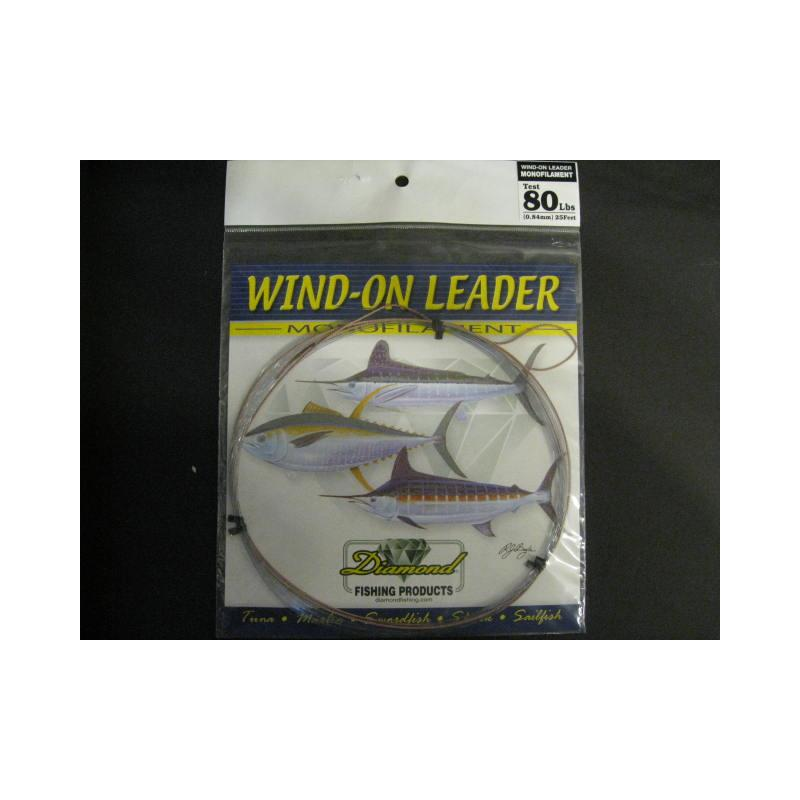 Momoi Leader 90001 Diamond Wind Onleader 80lb 25' Smoke Blue