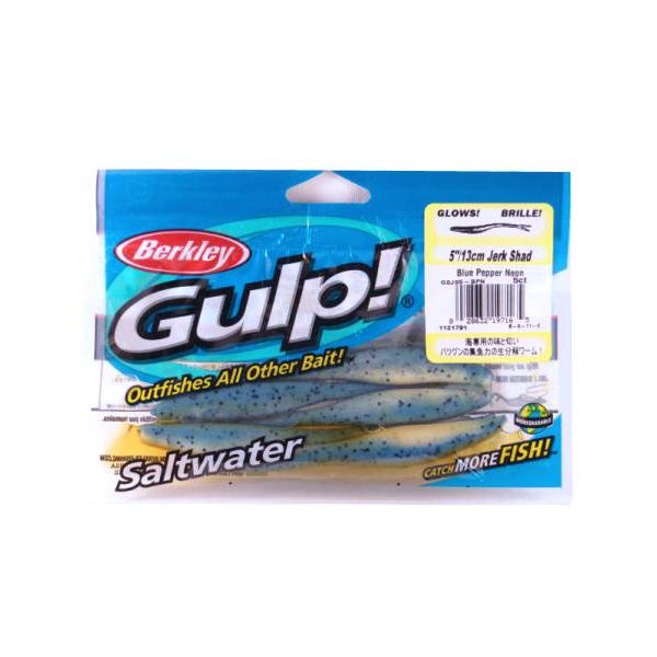 "Berkley Gsjs5-bpn Gulp Saltwater Jerk Shad 5"" Blue Pepper"
