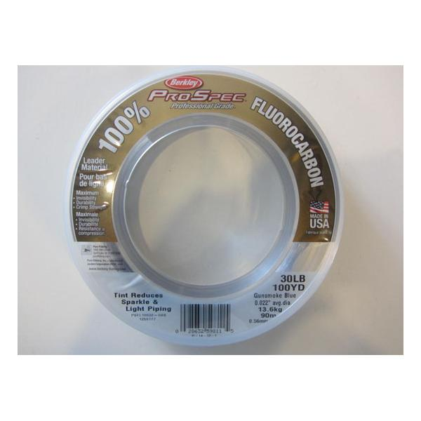 Fluorocarbon Leader Berkley Pro Spec 30lb 100yds Gunsmoke Blue