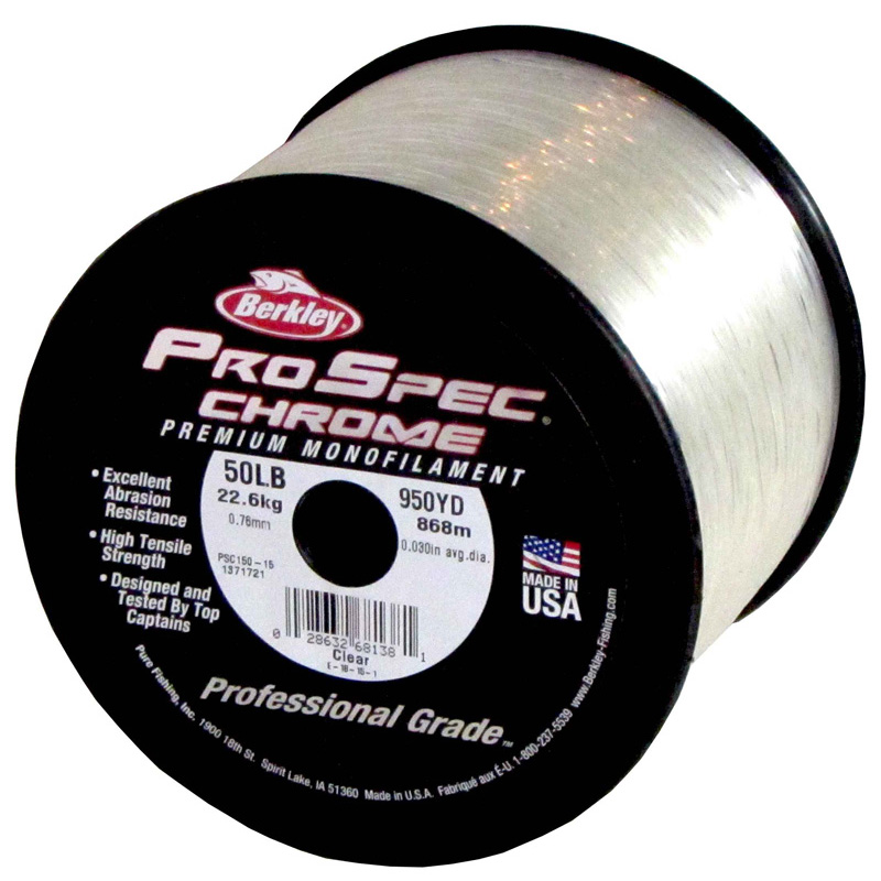 Berkley ProSpec Chrome Monofilament Fishing Line 50Lb 950yds Cle