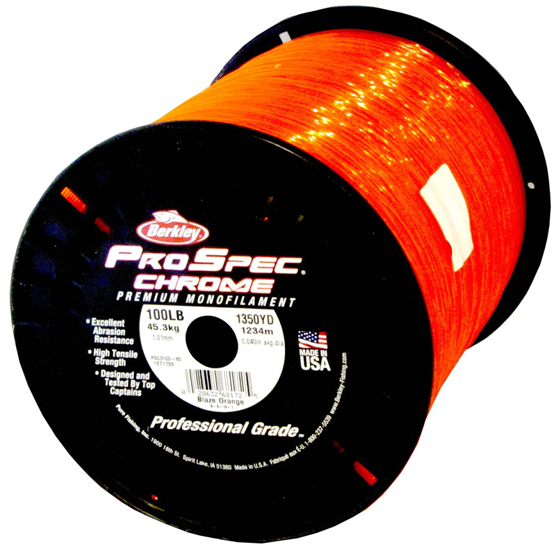 Berkley ProSpec Chrome Monofilament Fishing Line 100Lb 1350yds B