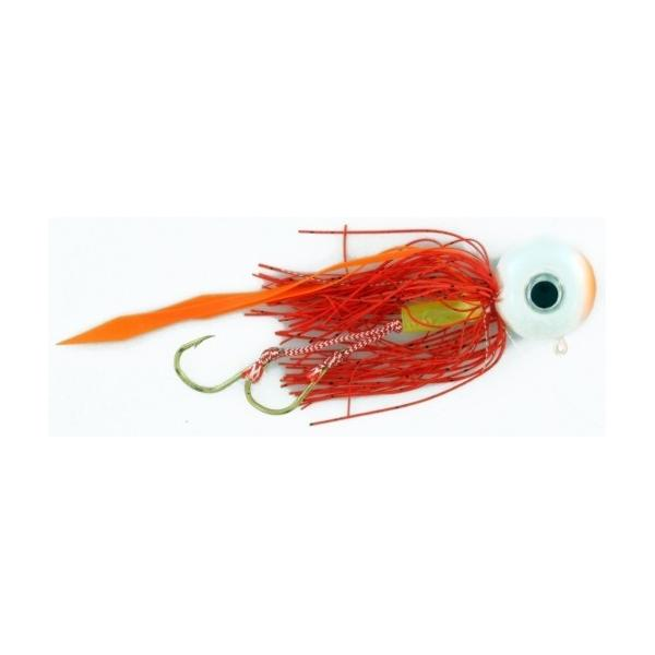 Vertical Jig with Assist Hook Orange/White 0.6 ounce - Almost Al