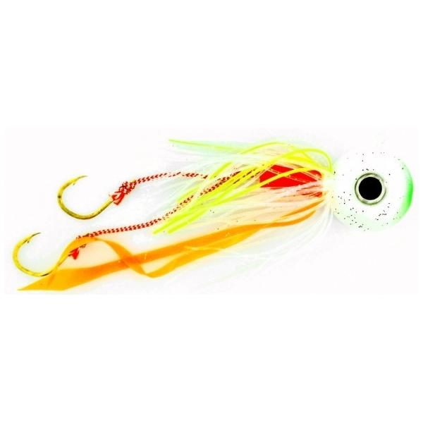 Vertical Jig with Assist Hook Green/White 2.8 ounce - Almost Ali