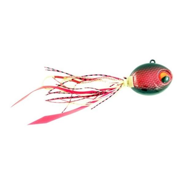 Vertical Jig with Assist Hook Red/Black 2.7 ounce - Almost Alive