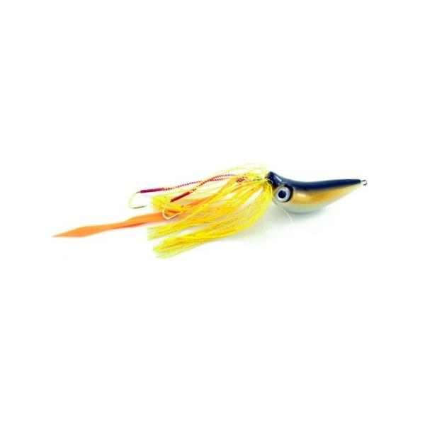 Vertical Jig with Assist Hook Black/Yellow/White 1.4 ounce - Alm