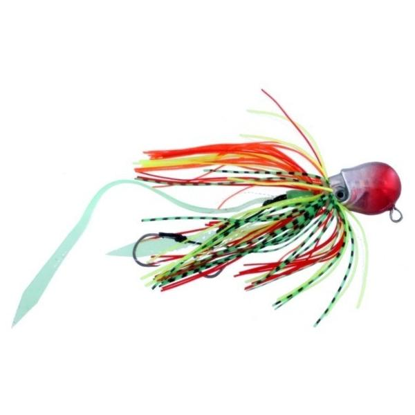 Vertical Jig Octopus Red/Silver 1.4 ounce - Almost Alive Lures