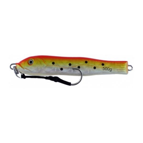 Vertical Jig Kuma Orange/Yellow/Flash 17.5 ounce - Almost Alive