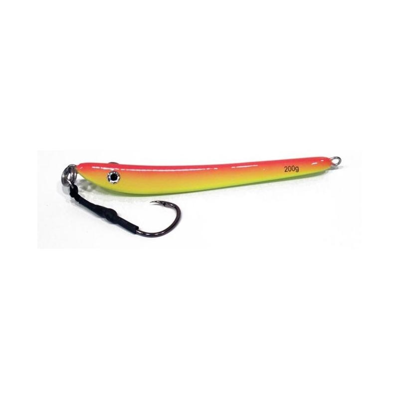 Vertical Jig Jabbah Orange/Yellow 7 ounce - Almost Alive Lures