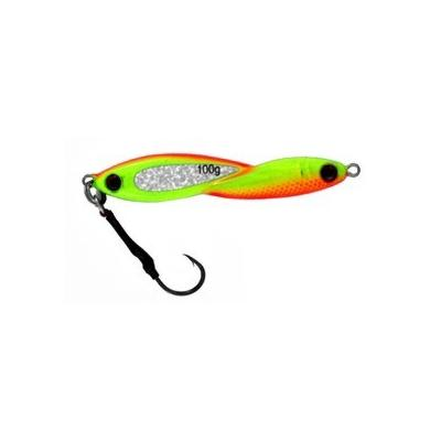 Vertical Jig Okul Orange/Chartreuse 3.5 ounce - Almost Alive Lur