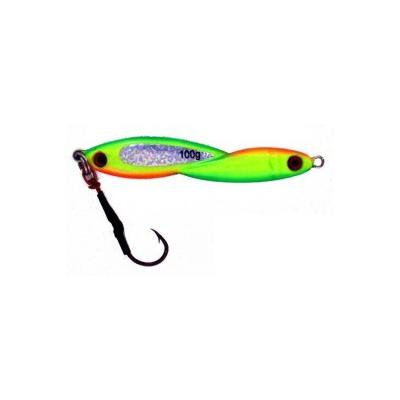 Vertical Jig Okul Chartreuse/Orange/Flash 3.5 ounce - Almost Ali