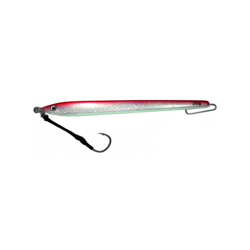 Vertical Jig Izar Red/Flash/Glow 8.8 ounce - Almost Alive Lures