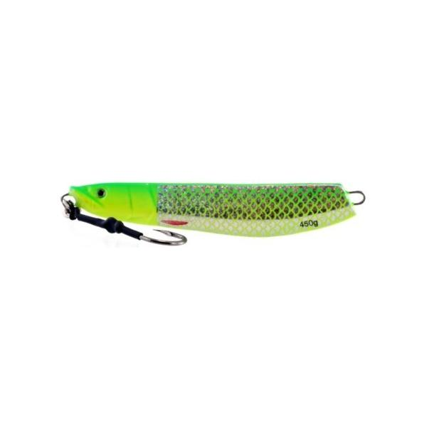 Vertical Jig Sarin Chartreuse/Flash 15.75 ounce - Almost Alive L