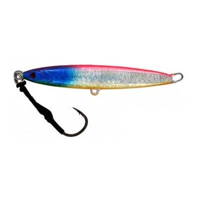 Vertical Jig Arm Pink/Blue/Flash 5.3 ounce - Almost Alive Lures