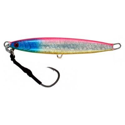 Vertical Jig Arm Pink/Blue/Flash  ounce - Almost Alive Lures