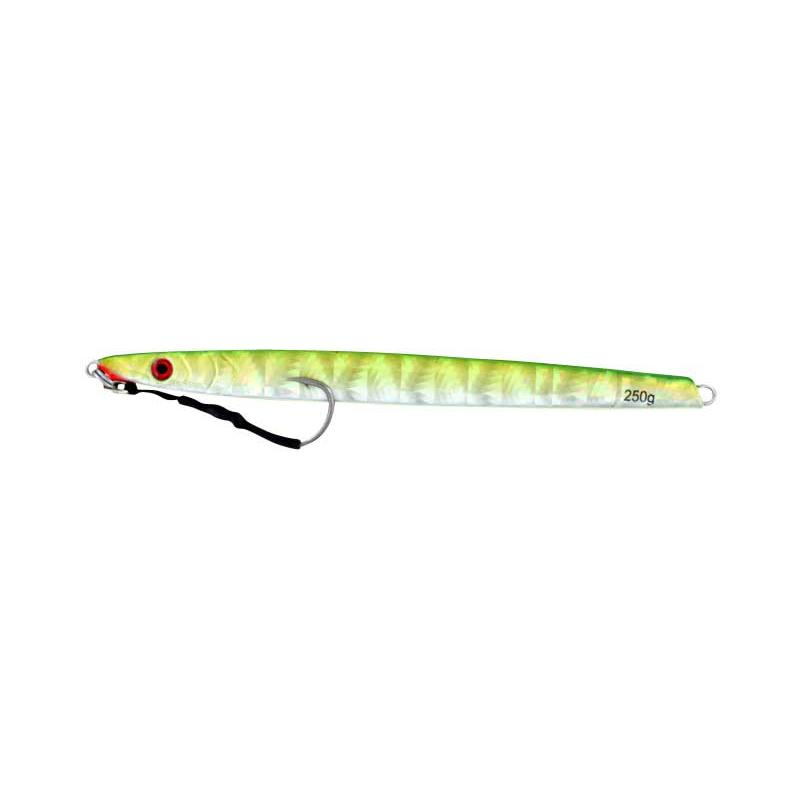 Vertical Jig Sargas Green/Flash 8.75 ounce - Almost Alive Lures