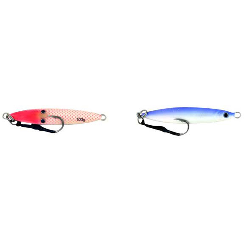 Vertical Jig Sinistra Red/Blue 3.5 ounce - Almost Alive Lures