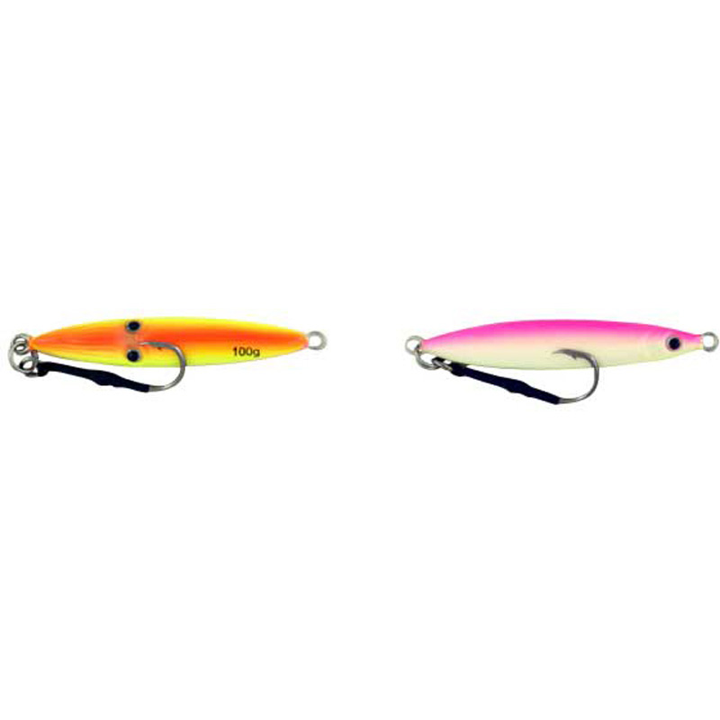 Vertical Jig Sinistra Orange/Pink 3.5 ounce - Almost Alive Lures