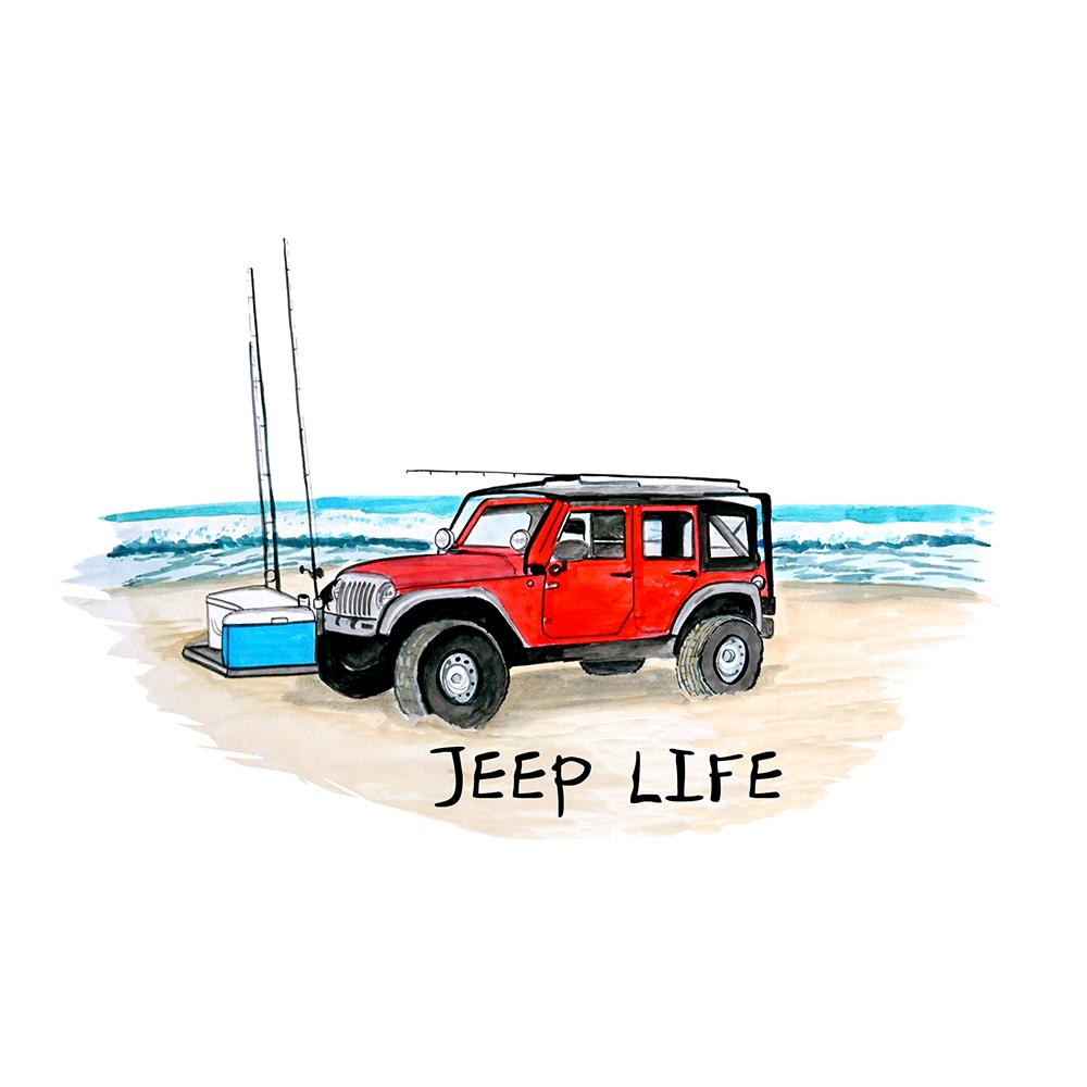 """Jeep Life"" - Jeep on Beach"