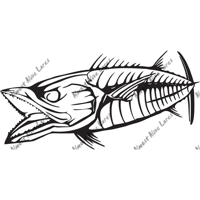 Bonez Decal King Mackerel - Printed Vinyl Decal