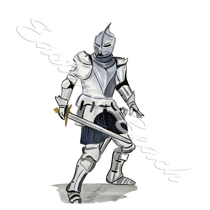 Knight In Armour - Printed Vinyl Decal