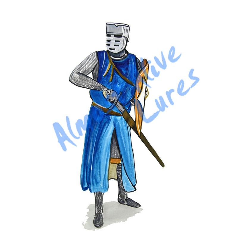 Blue Knight - Printed Vinyl Decal