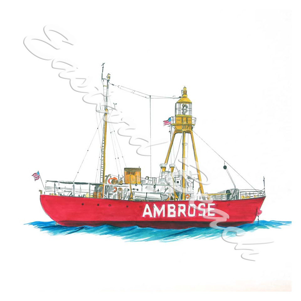Ambrose Lightship Lv-87 - Printed Vinyl Decal