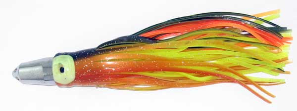 Jet Head Trolling Lure, Red/orange/blue 7 Inch