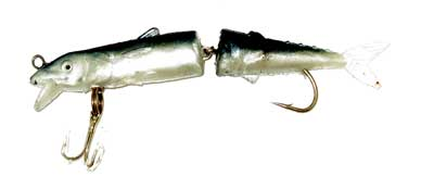"4"" Mackerel Swim Bait Split Body Paddle Tail Jointed Lure"
