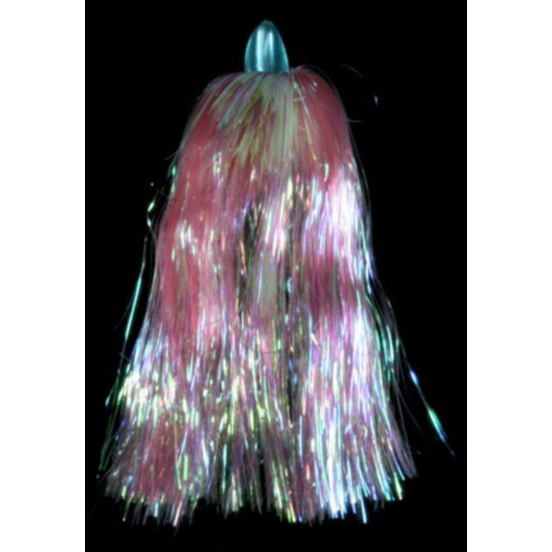 Duster Witch Lure, Blue Head, Pink, Pearlescent Hair
