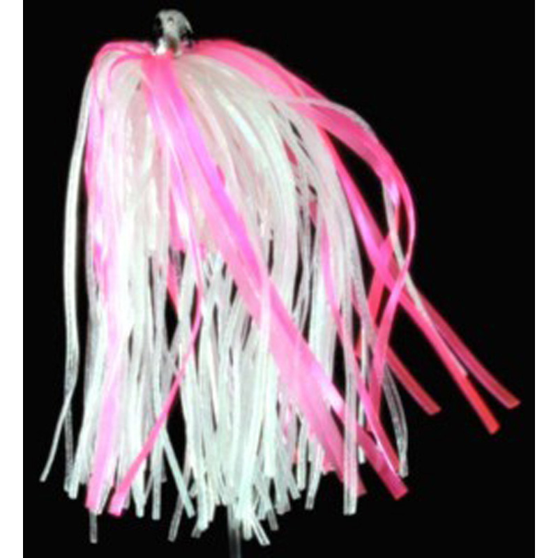 Trolling Witch Lure, 4g, White Skirt, Pink Mylar