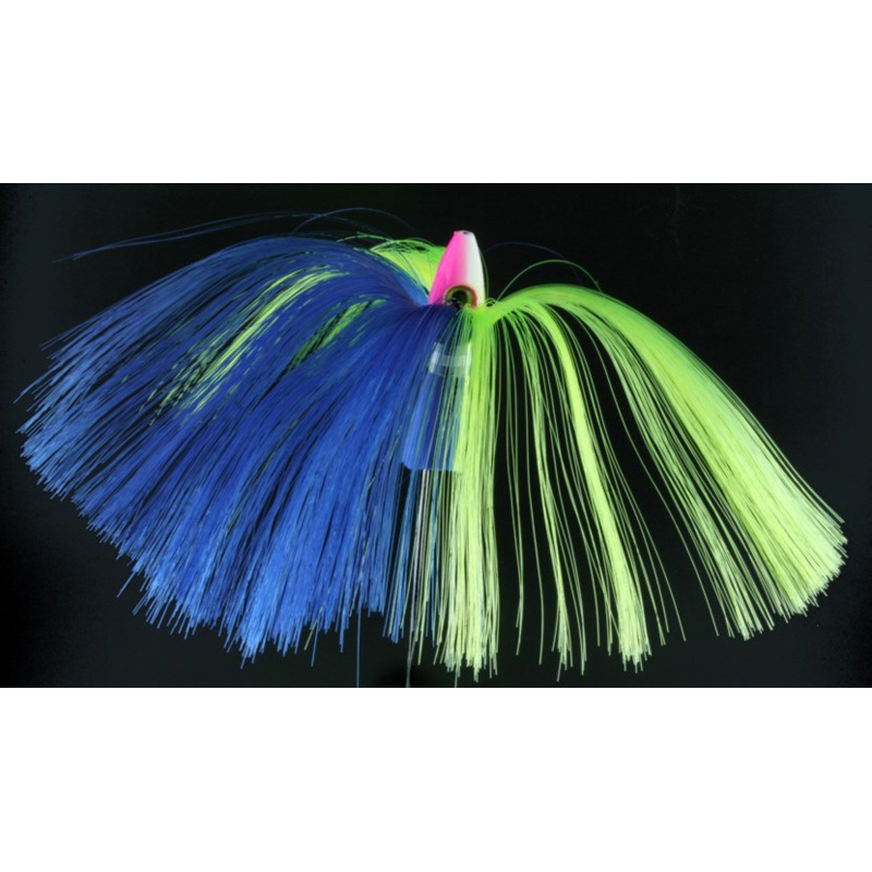 Witch Lure, 1oz, Pink-white Head, Blue, Chartreuse Hair