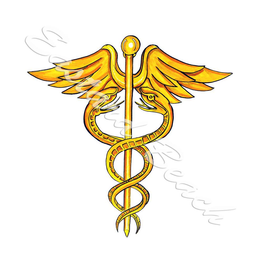 Caduceus Staff Of Hermes - Printed Vinyl Decal [STK116L ...