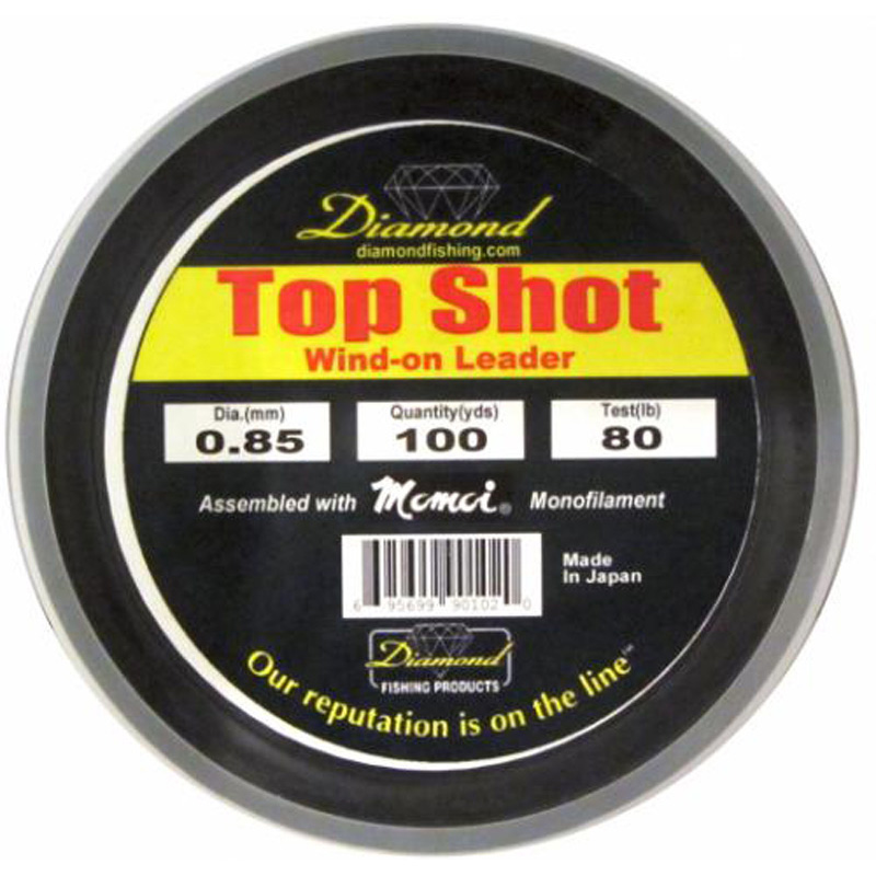 Momoi Diamond Top Shot Monofilament Wind-on 80lb 100yds Smoke Bl