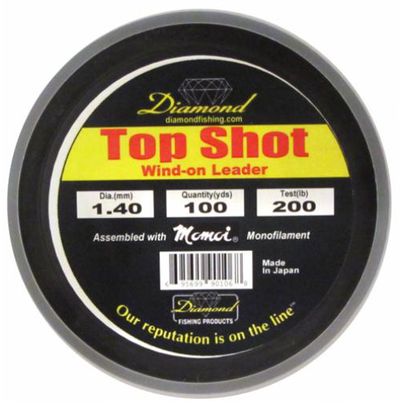 Momoi Diamond Top Shot Monofilament Wind-on 200lb 100yds Smoke B