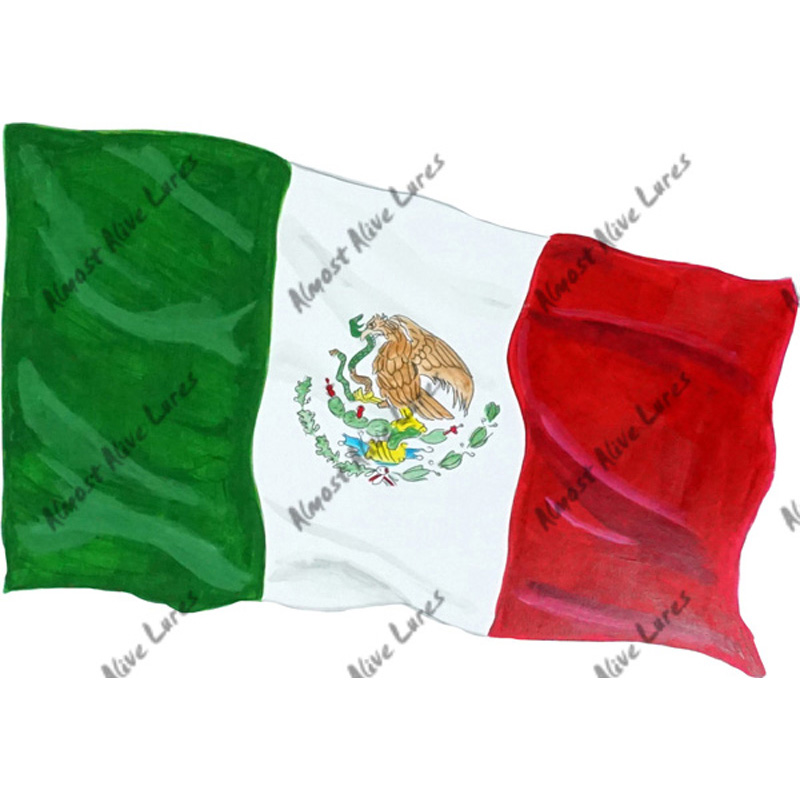 Mexican Flag - Printed Vinyl Decal