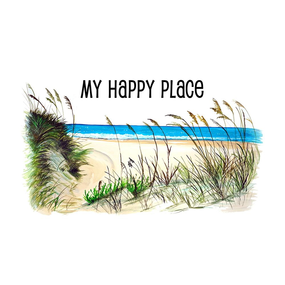 """My Happy Place"" - Beach Scene"