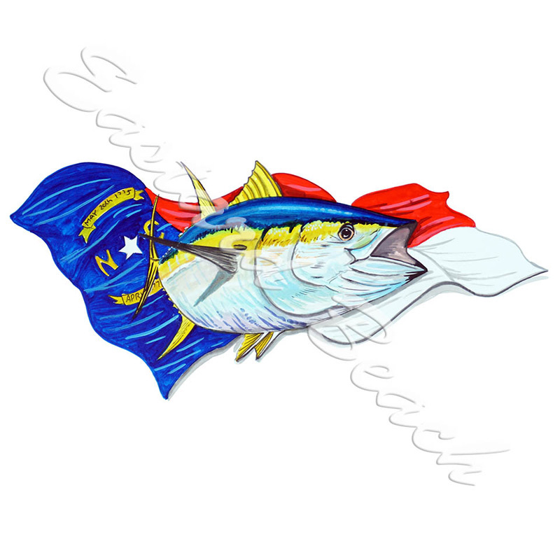 NC Flag & Yellowfin Tuna
