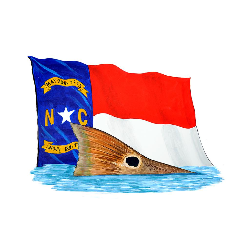 NC Flag Red Tailing