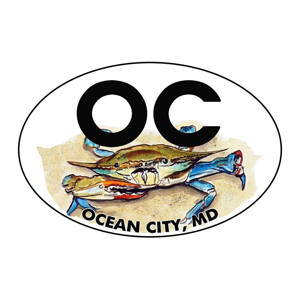 Ocean City Blue Crab Oval