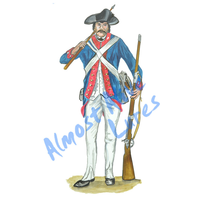 Revolutionary War Soldier - Printed Vinyl Decal