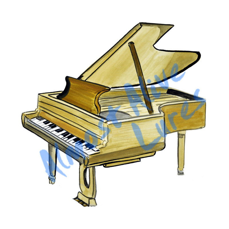 Piano - Printed Vinyl Decal