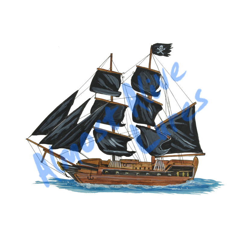 Pirate Ship - Printed Vinyl Decal